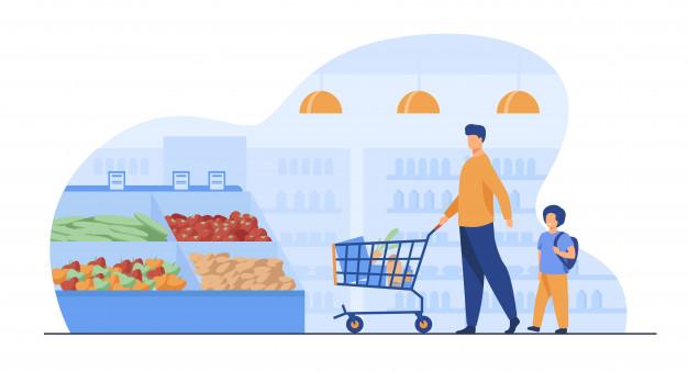 スーパーマーケットイラスト