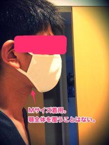 エアリズムマスクMサイズ、横から見た画像